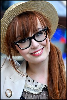 Miss Pandora - Bd Beaumarchais - Paris Female Character Inspiration, Girls With Glasses, Beautiful Long Hair, Womens Glasses, Beautiful Celebrities, Woman Face, Up Hairstyles, Her Hair, Redheads
