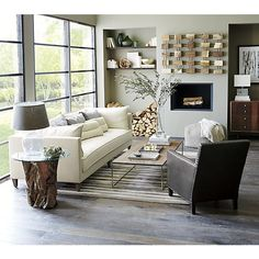 Driftwood Side Table & Rug
