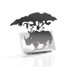 During the last few years South Africa has experienced an alarming increase in rhino poaching. WWF works on two fronts to help rhinos - keeping them safe and growing their numbers.  Carrol Boyes supports WWF and its Rhino Conservation Work, and helps to keep Africa's iconic rhino alive.  Carrol Boyes will donate 25% of the proceeds from the sale of these Business Card Holders to the WWF.