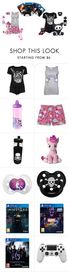 """#41{DDLG - Little(s) & Just Little Things}"" by ofowlandwolf1617 ❤ liked on Polyvore featuring My Little Pony, Rock Star Baby, Sony, littlegirl, ddlg and littlespace"