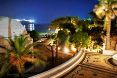 A night in paradise, Kalithea Rhodes island Rhodes Island Greece, Greece Islands, Night Moves, Seven Wonders, Beach Hotels, World Heritage Sites, Rhode Island, Night Time, Old Town