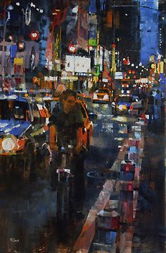 "Mark Lague  ~  ""Night Cyclist"""