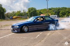 Avus blue BMW e36 coupe on OEM BMW Styling 19 (BBS RT) wheels