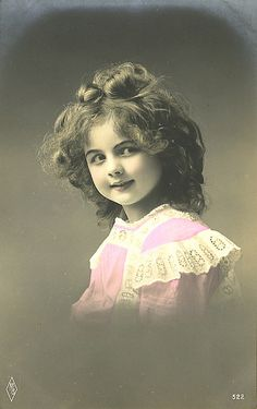 Vintage Postcard ~ Pretty Girl