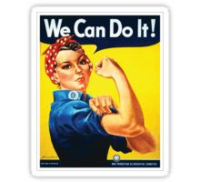 Rosie the Riveter classic wartime image Sticker