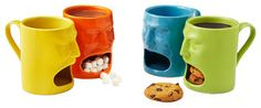 Warm or Cool Face Mugs - eclectic - glassware - - by UncommonGoods