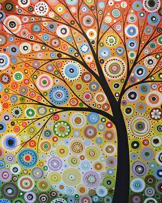 Amy Giacomelli peinture impression... Lueurs d'espoir--signé imprimé brillant 8 x 10