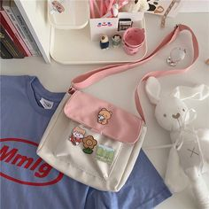 Cute Backpacks, Girl Backpacks, Korean Bags, Pastel Backpack, Fashion Games For Girls, Estilo Harajuku, Aesthetic Bags, Kawaii Bags, Japanese Bag