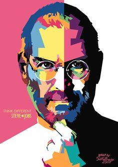 Steve Jobs in WPAP by setobuje.deviantart.com