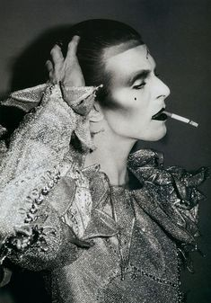 standing-cinema:huariqueje:Ashes to Ashes Costume  -   David  Bowie  1980 Poster Glamour  -   Edward Bell  1981i touched that shoe