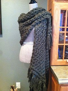Ravelry: Prayer Shawl in SKYP Stitch pattern by Louis Chicquette