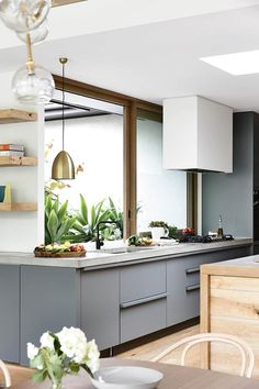 Serve up a winning kitchen! Check out the hottest new looks for the heart of your home, featuring clever design tricks, family-friendly ideas and considered palettes. Kitchen Dining, Kitchen Decor, Kitchen Cabinets, Cupboards, Kitchen Ideas, Sliding Windows, Clever Design, Kitchen Storage, Home Goods