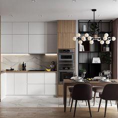 Este posibil ca imaginea să conţină: masă şi interior Kitchen Room Design, Kitchen Cabinet Design, Living Room Kitchen, Interior Design Kitchen, New Kitchen, Kitchen Decor, Home Decor Furniture, Kitchen Furniture, Kitchen Cabinets Fronts