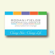 Rodan and fields business cards elegant rodan and fields rodan and fields business cards elegant rodan and fields personalized business card rodan and fields calling card r f printabl colourmoves