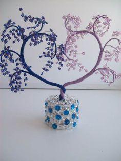 How to DIY Heart Shaped Beaded Decorative Tree 7