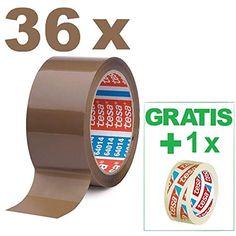 12, Braun transparent oder braun zur Auswahl 6 Rollen Tesa Klebeband Paketklebeband Packband 66m 50mm