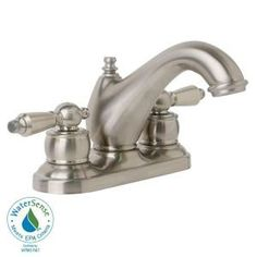 Symmons Allura 4 in. 2-Handle Mid-Arc Bathroom Faucet in Satin Nickel-SLC-7612-STN-RP at The Home Depot