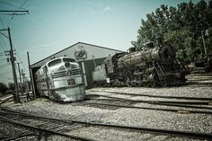 Nebraska Zephyr and 4-6-2 at the Illinois Railway Museum in Union, IL.
