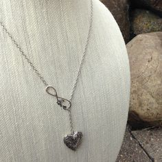 Essential Oil Diffuser Necklace Silver Infinity Love by EOJewelry