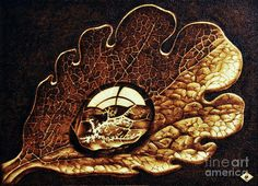 most famous pyrography of all time   Dewdrop On A Leaf Pyrography