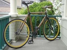 How he made his own bamboo bike !