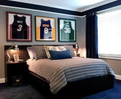 21 Masculine Rooms Interiorforlife.com Seems like Shaq and Kobe are getting along just fine here