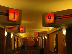 Directional displays, positioned at strategic locations throughout a movie theatre, will guide customers to their movie of choice.