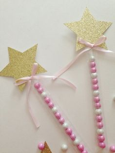 Twinkle Twinkle Little Star Party~ Pink and Gold Party ~ Candy Wands ~ Candy Tubes ~ Candy Party Favors ~ Princess Wand ~ 1st Birthday Favor