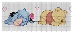 Winnie the Pooh and Eeyore cross stitch