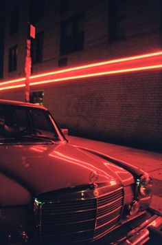 Mercedes and red light Neon Aesthetic, Night Aesthetic, Nocturne, Station Essence, The Neon Demon, Neon Noir, Neon Nights, American Gods, Red Walls