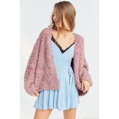 Pins And Needles Fluffy Oversized Cardigan ($64) ❤ liked on Polyvore featuring tops, cardigans, cocoon cardigan, oversized cocoon cardigan, oversized open front cardigan, open front tops and over sized cardigan