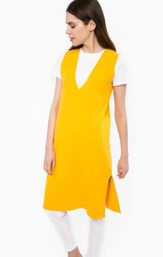 Однотонное платье из вискозы с разрезом HL003D_F1275 152