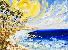 "40""x30"" Acrylic on Canvas - Water Scene - Artist, Justin Gaffrey"