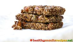 Nut and Seed Bars http://www.healthysnacksrecipes.net/nut-and-seed-bars/ Easy healthy snack recipes gluten free vegetarian