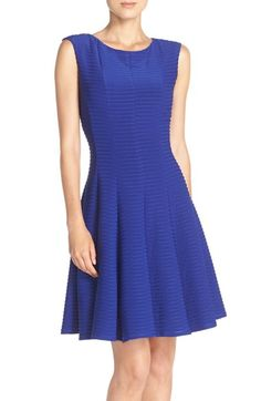 60d3a0e832aee Gabby Skye Pintuck Fit & Flare Dress available at #Nordstrom Luxury  Wedding Dress,