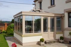 Beautiful bespoke orangery perfectly complements the house