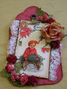 Vintage Christmas Tidings Tag | The Handmade Card Blog
