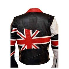 British Flag Women Biker Leather Jacket