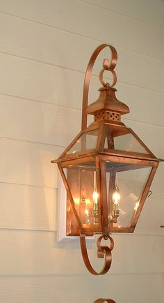 The Charleston gas lantern- really pretty at night.I want a front ...