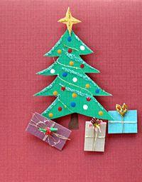 Home made Christmas card idea