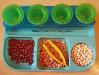 Jack and the Beanstalk  Have the students sort beans by color using tweezers for fine motor development.  A, Bee, C, Preschool
