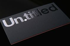 Un.titled ID by Andrew Townsend, via Behance