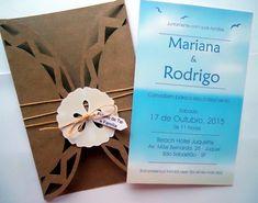 Convite Casamento na Praia-Cód.1110