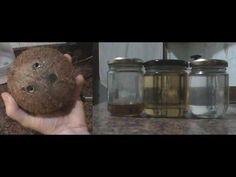 Cómo hacer aceite de coco casero (Extracción en caliente),  para comer, ...