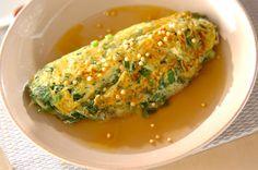 小松菜がたっぷり入ったオムレツに、和風のあんをかけて。身体が温まるレシピ。小松菜の和風あんかけオムレツ[和食/焼きもの]2010.09.27公開のレシピです。