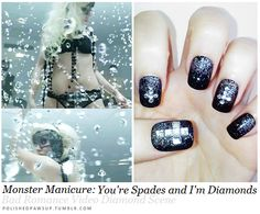 polished paws up: Bad Romance inspired manicure