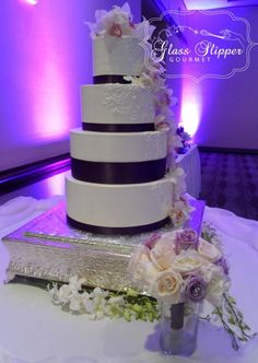 dress lace inspired buttercream wedding cake by Glass Slipper Gourmet #buttercreamcake #orchid #purple #lace #cakeinspiration