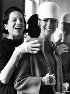 Marisa Berenson at a Fitting with Diana Vreeland.Diana Vreeland,Harper's BAZAAR,VOUGE
