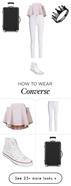 """Sans titre #10186"" by ghilini-l-roquecoquille on Polyvore featuring Milly, rag & bone, Converse and Rimowa"