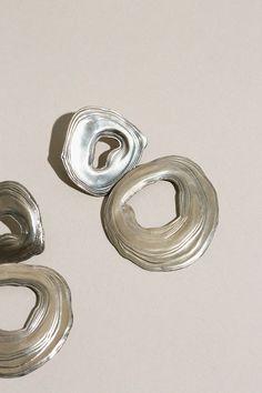 Leigh Miller Jewelry - White Bronze Double Whirlpool Earrings   BONA DRAG